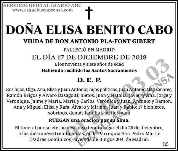 Elisa Benito Cabo